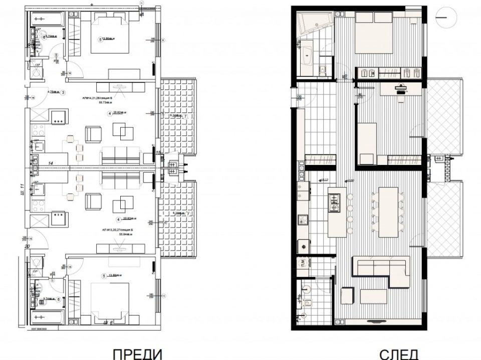 Интериорен дизайн и разпределение от Алл ин Студио