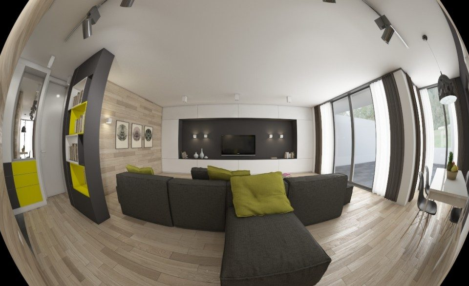 Интериорен дизайн на всекидневна от Алл ин Студио
