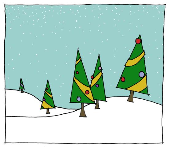 Коледни елхички