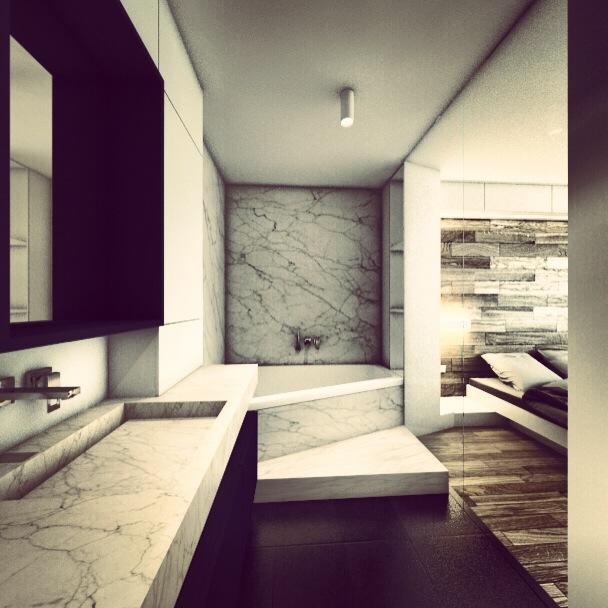 Bathroom interior design by ALL in Studio
