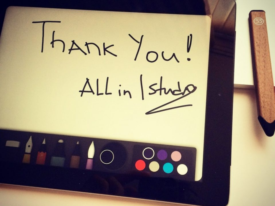 ALL in thanks