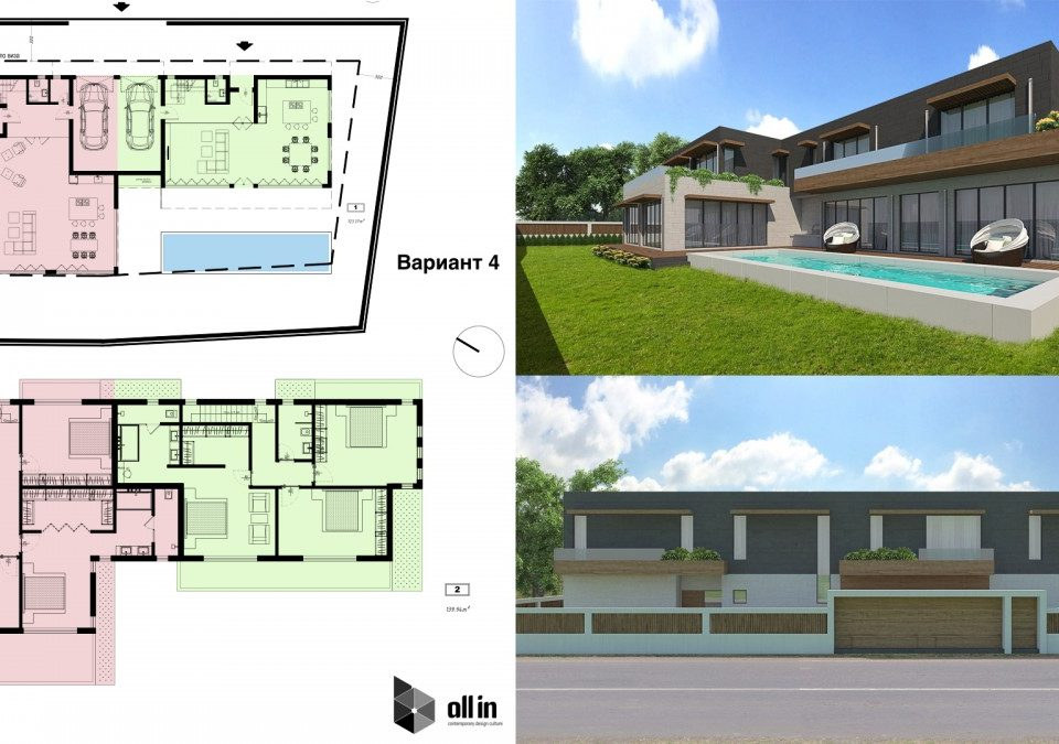 Architectural design of a house from ALL in Studio