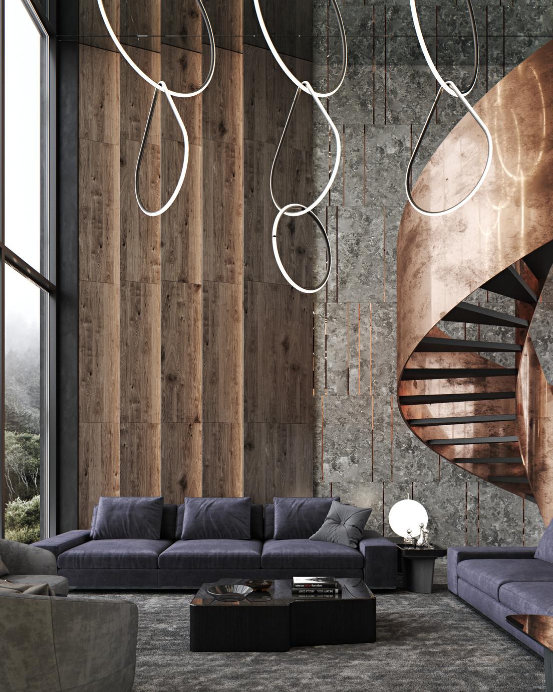 Интериор - вътрешна вита стълба