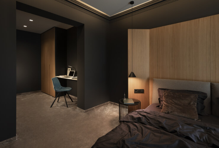 Кабинет - изглед от спалня