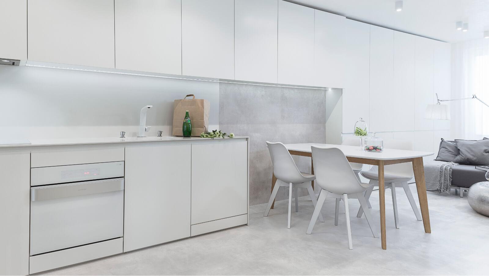 Интериорен дизайн - хол с кухня