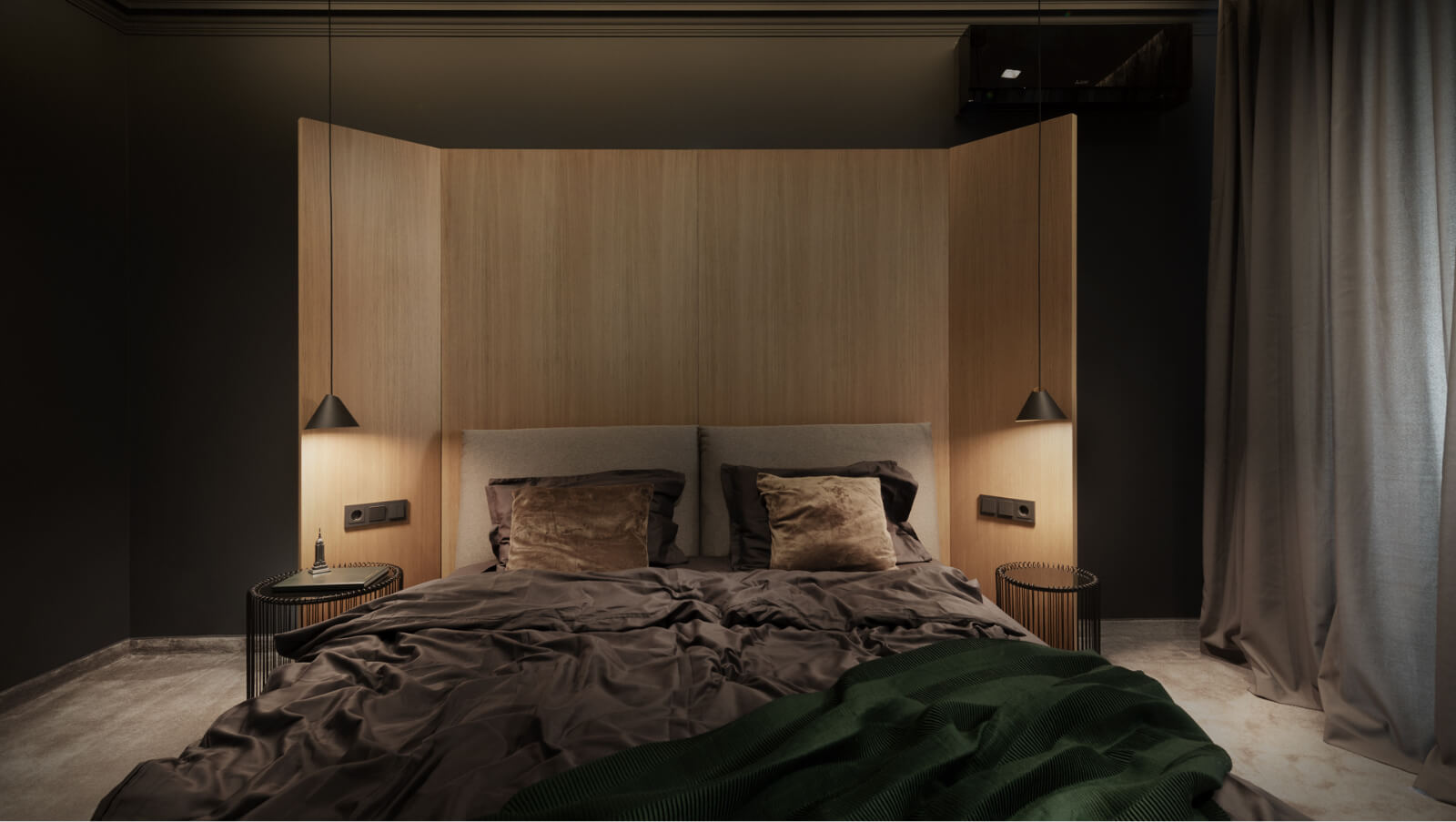 Спалня с параван