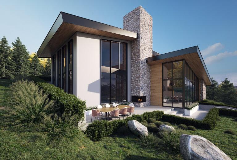 Тази перла в короната на съвременното строителство и архитектура съчетава в себе синепосредственото присъствие сред природата и уюта на модерен дом