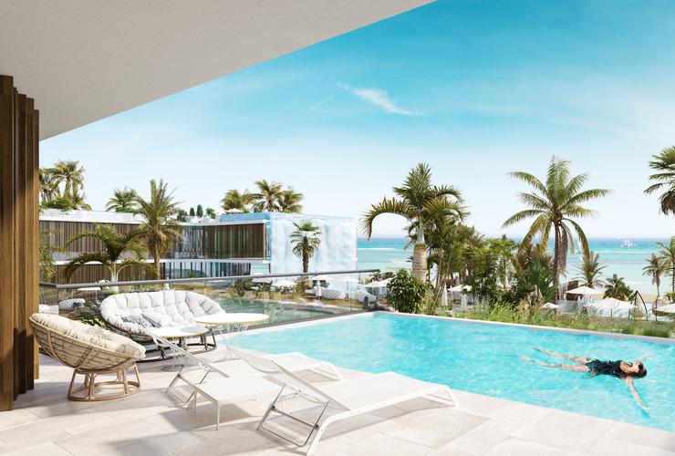 Стая с басейн
