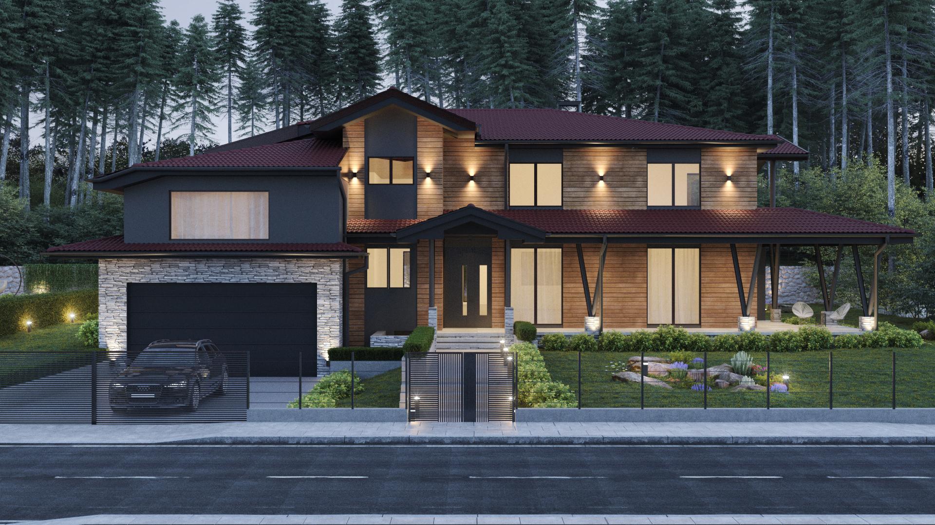 Архитектура на къща - фасада