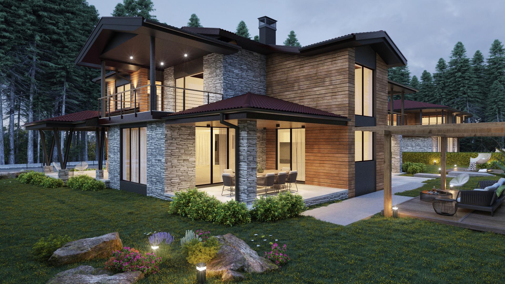 Архитектурен проект на къща - екстериор