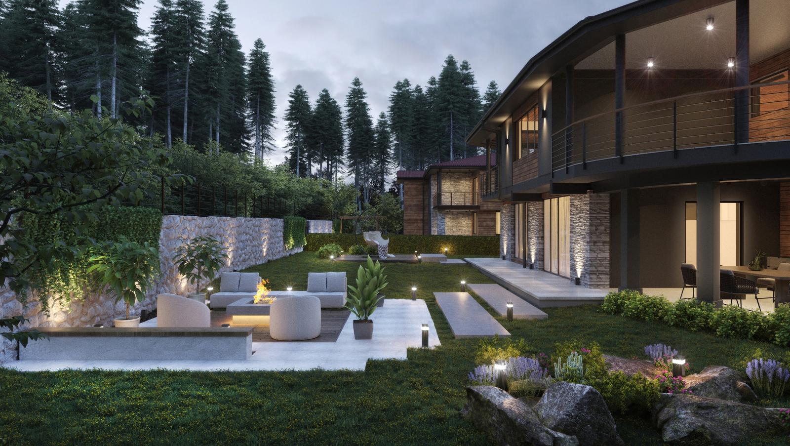 Вътрешен двор и градина