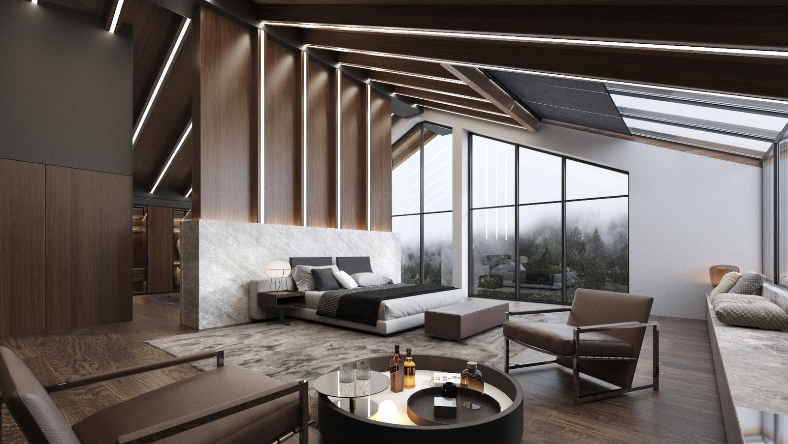 Интериорен дизайн на къща - спалня