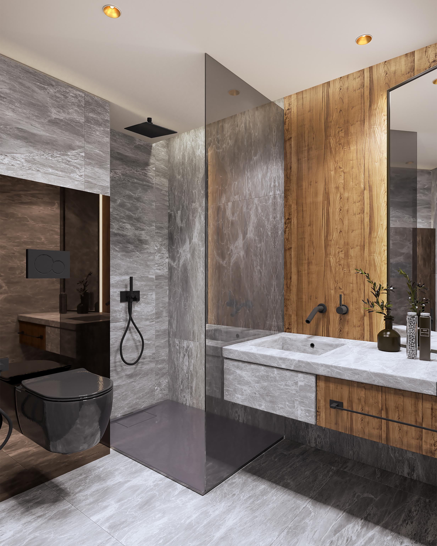 Магнолия - интериорен дизайн на баня, огледала, душ