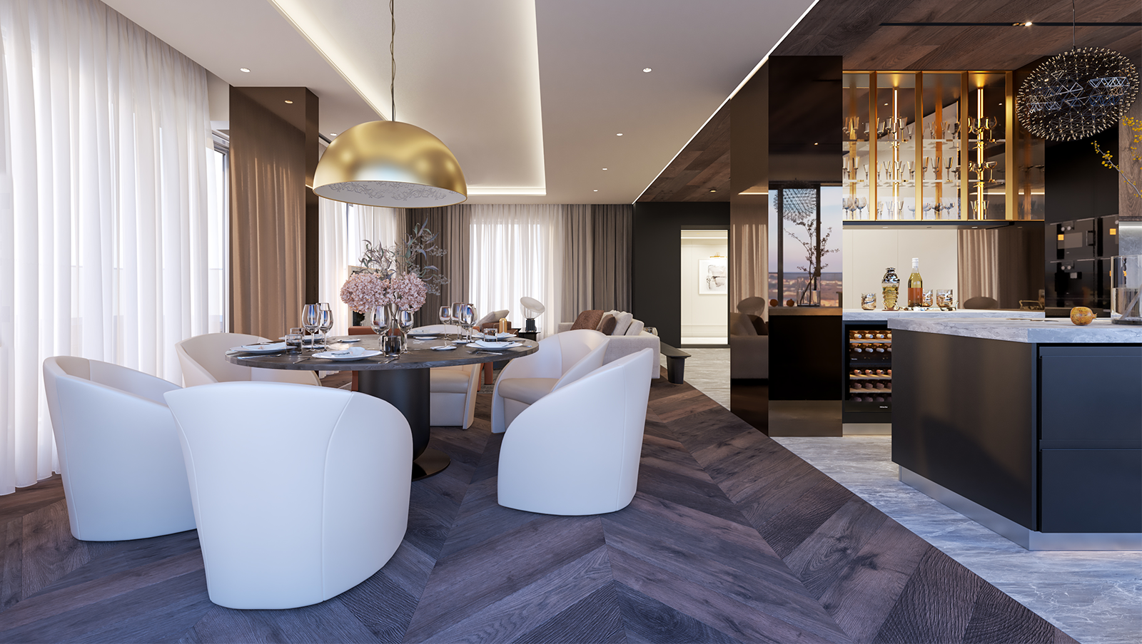 Магнолия проект - интериорен дизайн на тристаен апартамент