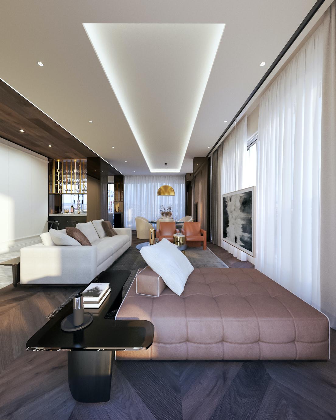 Магнолия проект - интериорен дизайн на хол