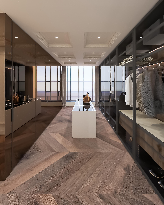 Магнолия проект - интериорен дизайн на гардеробна стая